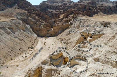 Qumran Caves with Labels tb52705290 400