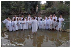 Jordan River baptism service
