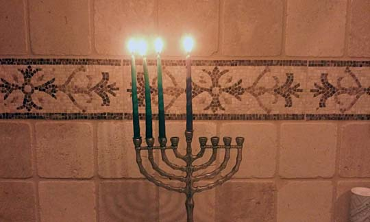 The third candle for Hanukkah.