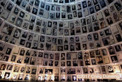 The photo collection of victims of the holocaust. Photo: ©2017 Craig Dunning