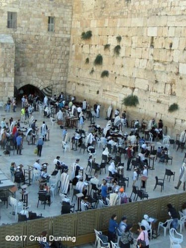 The Western Wall prayer area in Jerusalem, Israel. Photo: ©2017 Craig Dunning