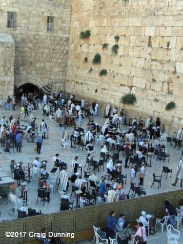 The Western Wall prayer area in Jerusalem, Israel. Photo: ©2017 Craig Dunning