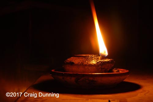 Replica oil lamp. Photo: ©2017 Craig Dunning