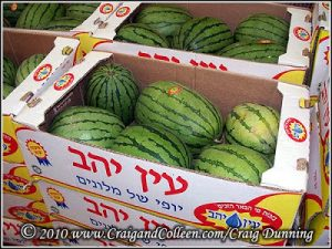 Nano watermelons in the Jerusalem Market, Mahane Yehuda.