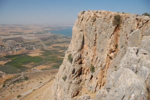 A view of the Plains of Gennesaret from the Arbel Cliff.