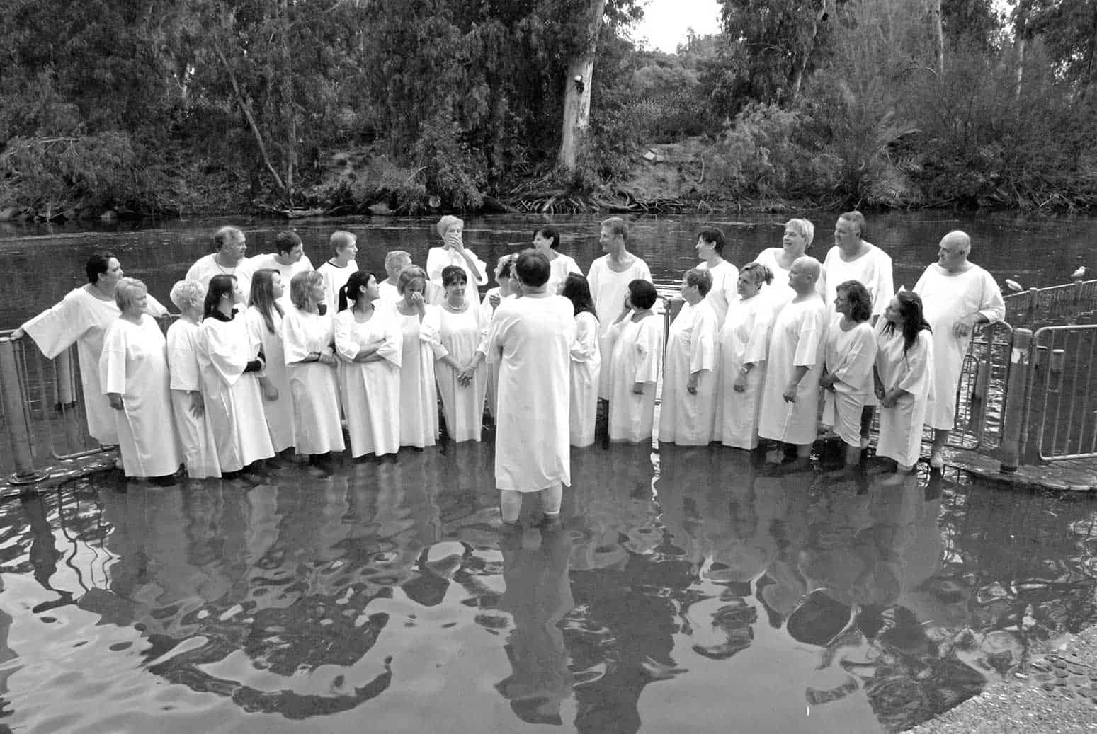 Baptismal Service at the Jordan River image