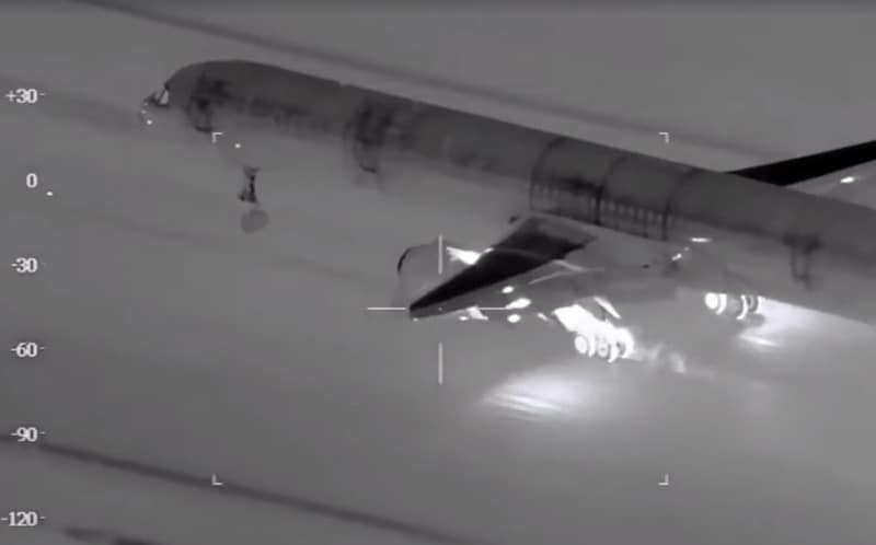 Thermal Photo of 757 Landing