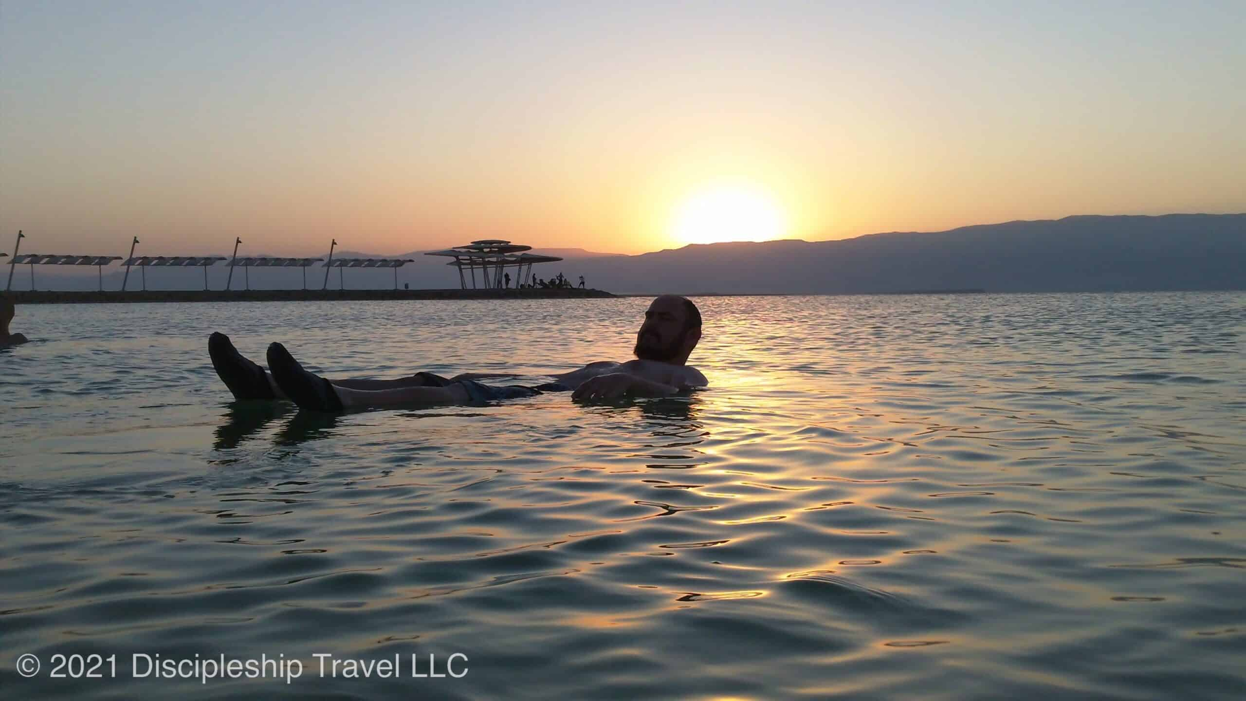 Floating on the Dead Sea